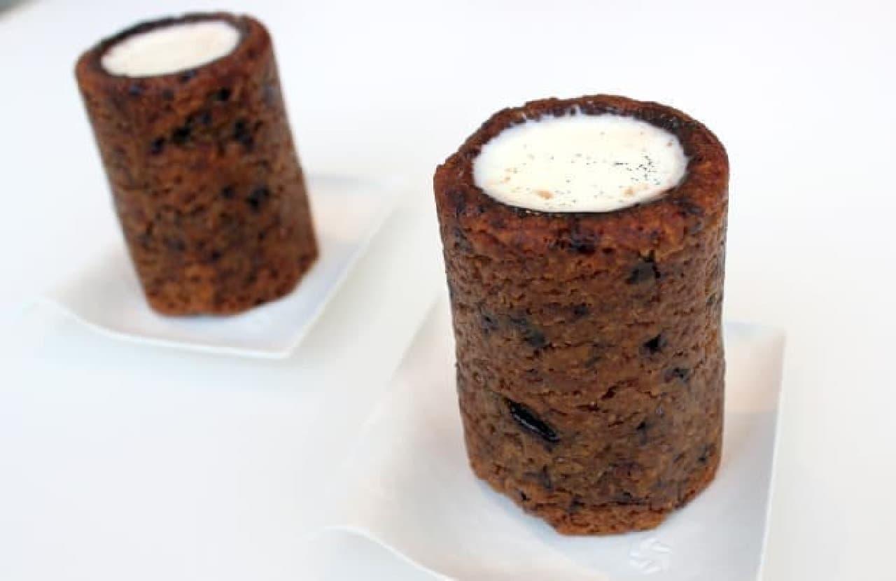 クッキーとミルクの組み合わせから着想を得たアメリカ的スイーツ