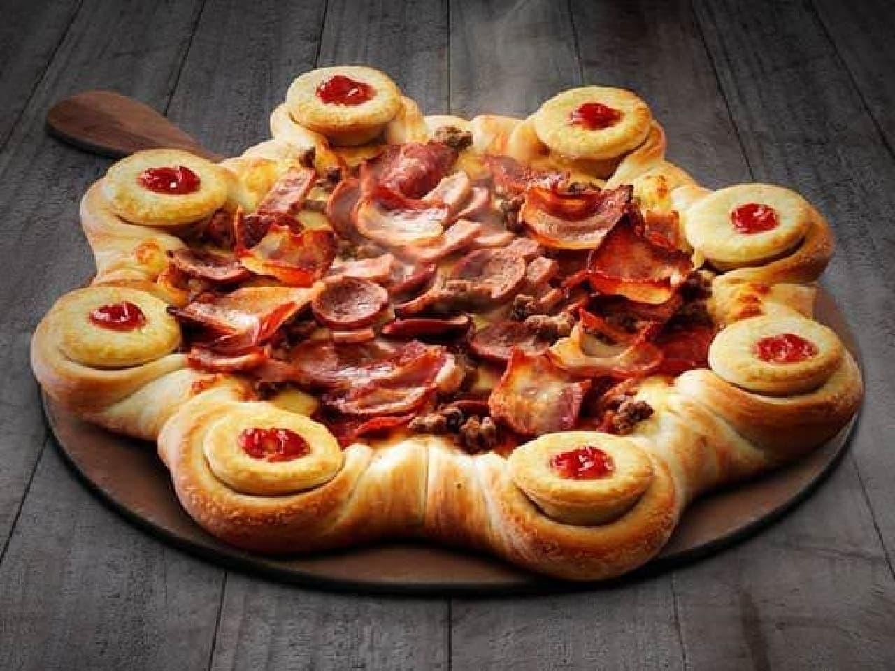 サクサク熱々のパイとピザが合体!  (出典:Pizza Hut Australia 公式 Twitter)