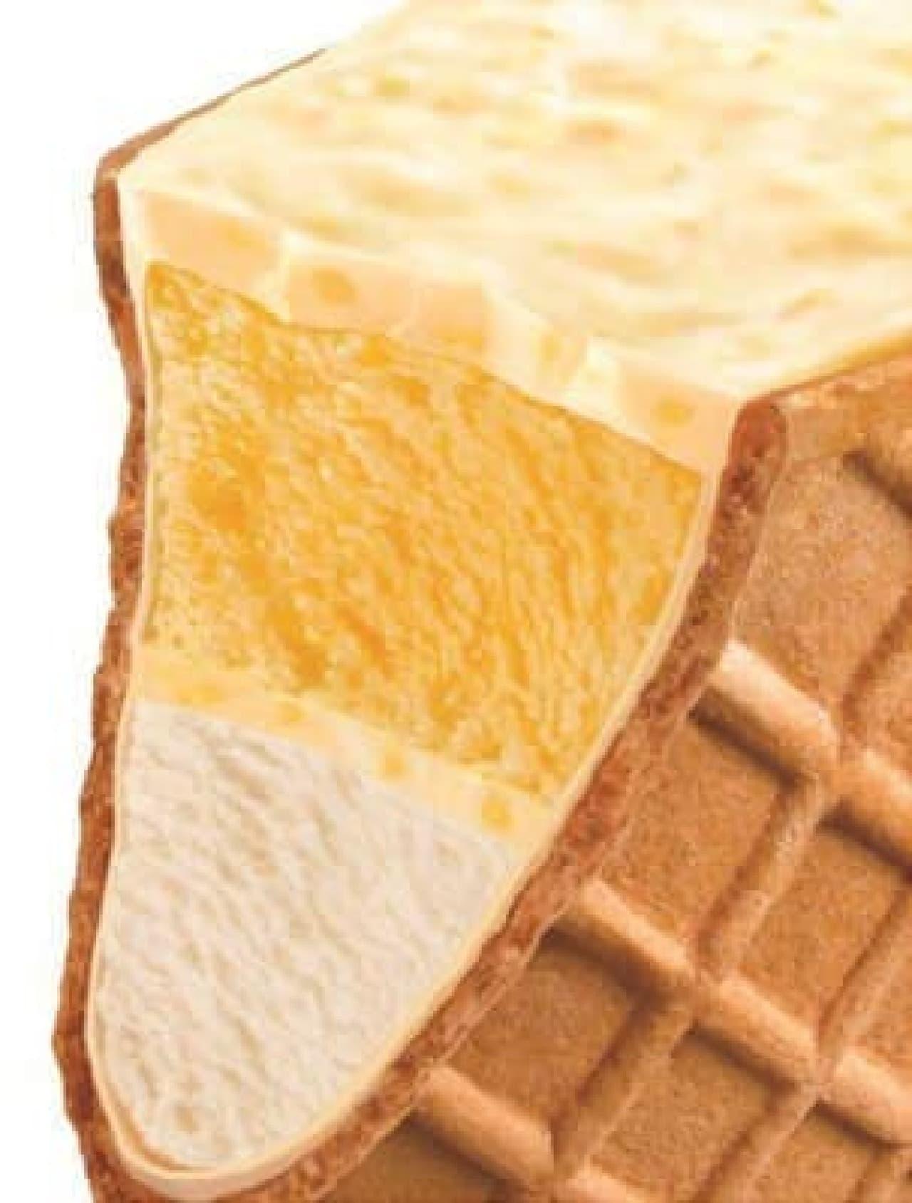 2つのアイス&ザクザク食感が楽しめる