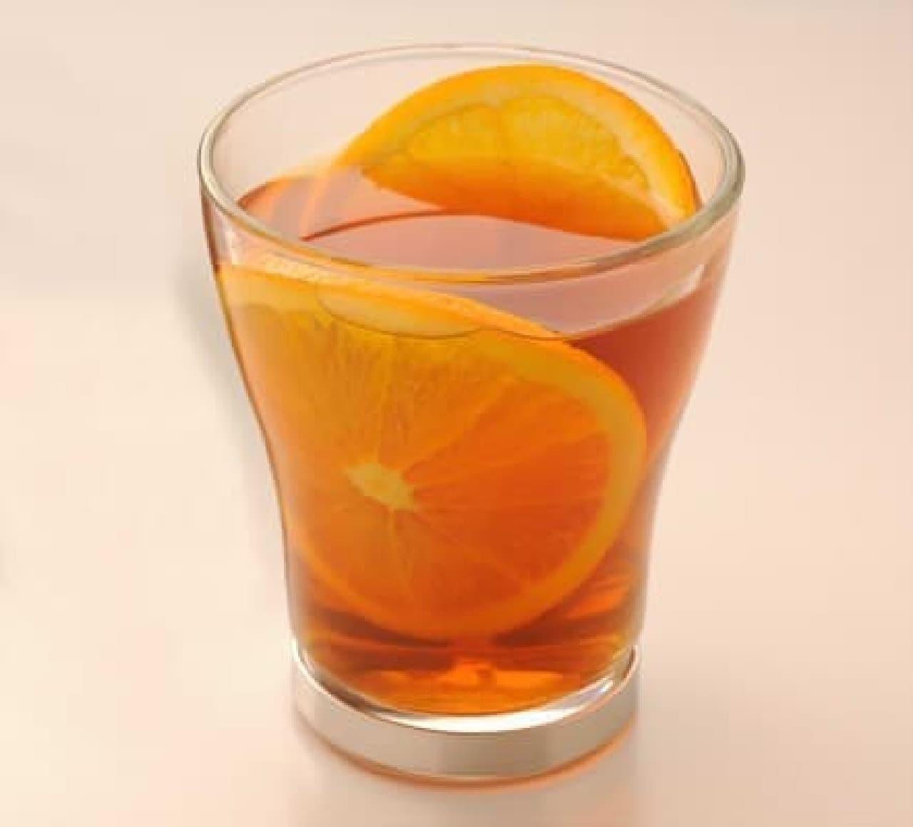 肌寒い日に「フレッシュオレンジティー」