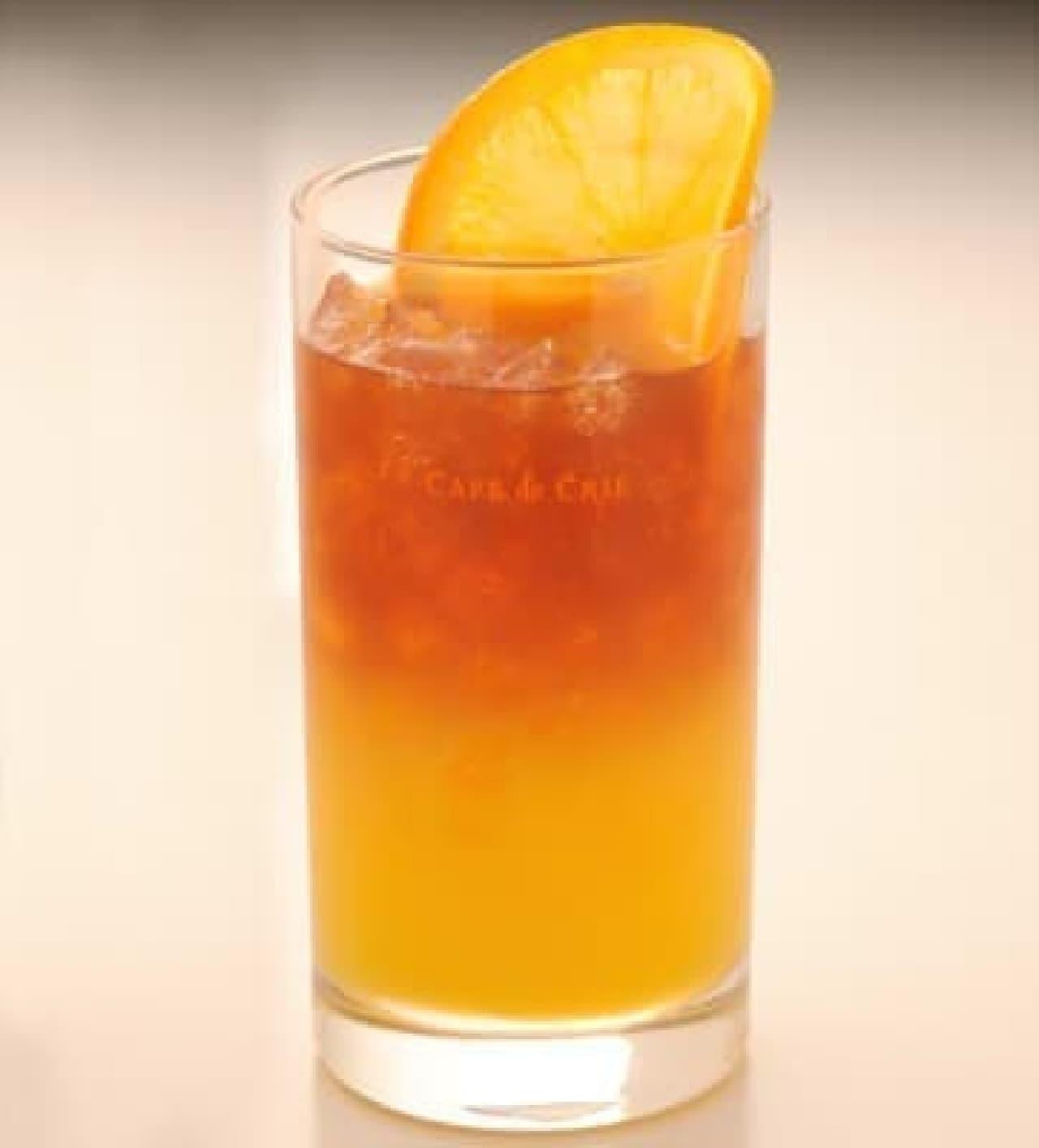 2層になった「オレンジセパレートティー」
