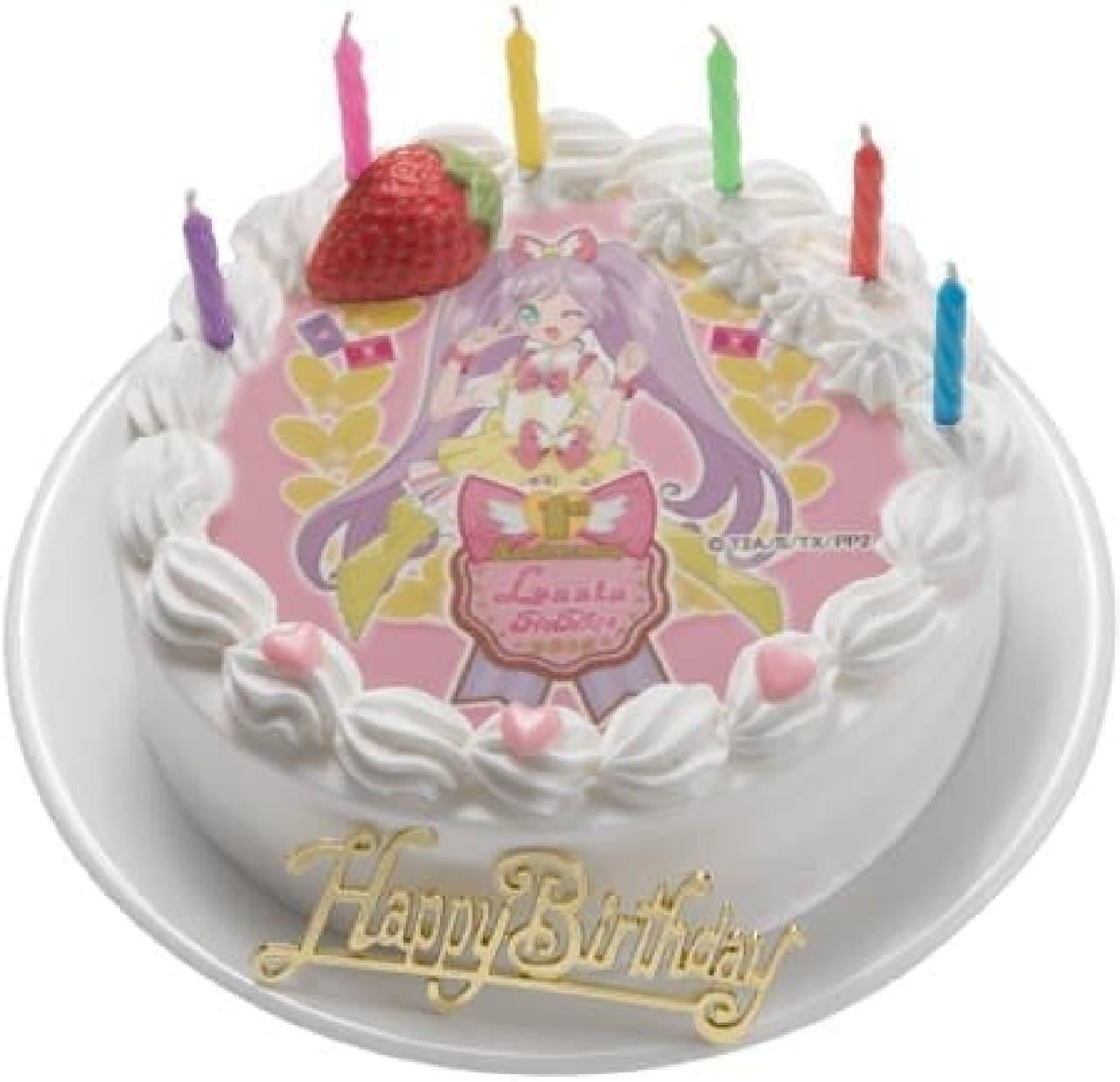 お気に入りのキャラクターケーキで誕生日をお祝い