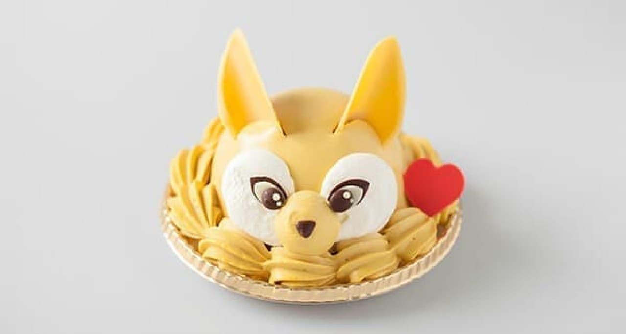 登場キャラ「パピル」をイメージしたケーキ