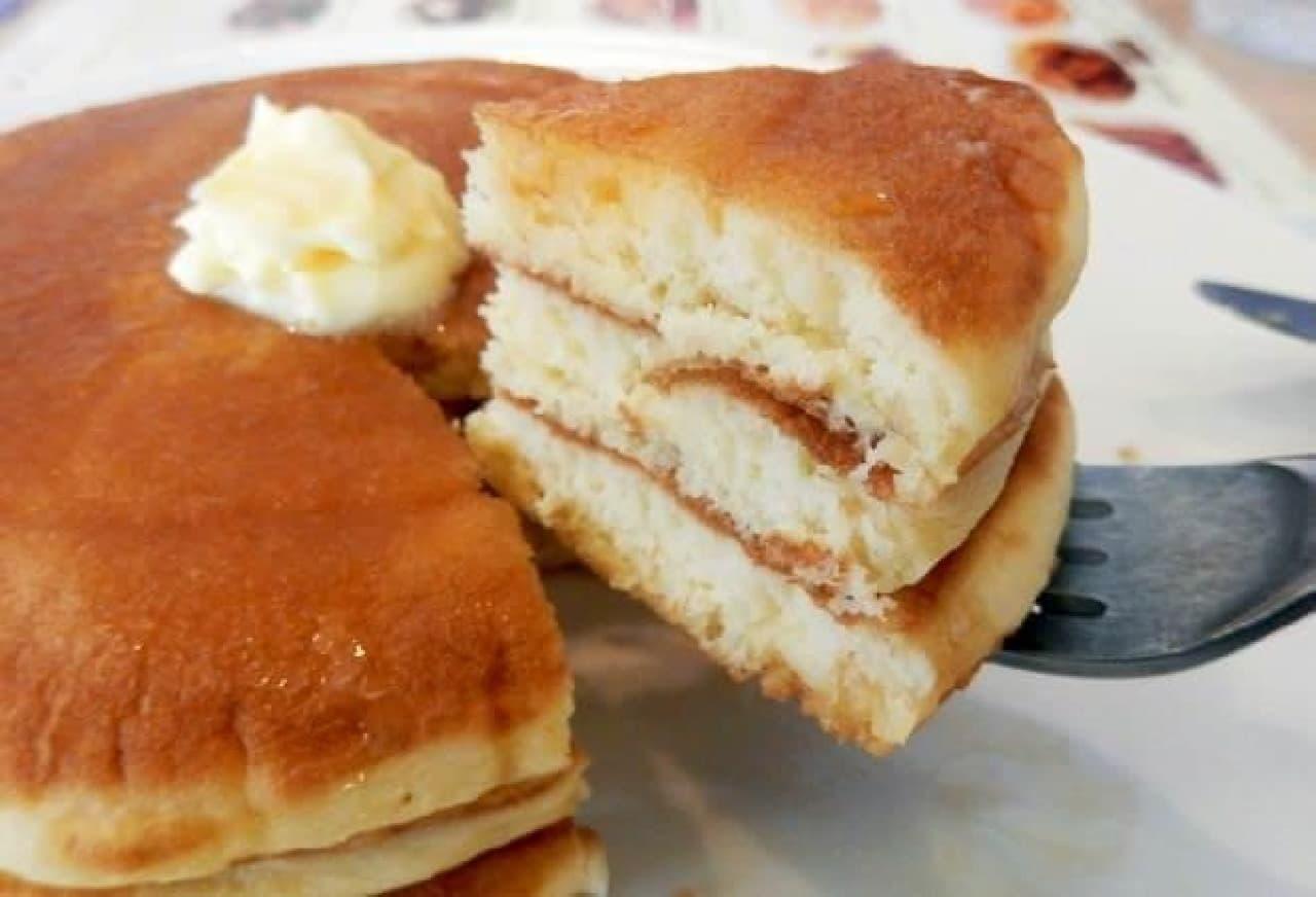 シンプルだけど、これぞパンケーキ!っていう感じ