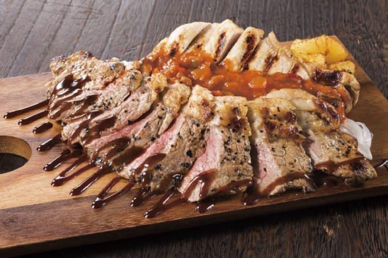 牛サーロイン&豚ロースの1ポンドステーキ