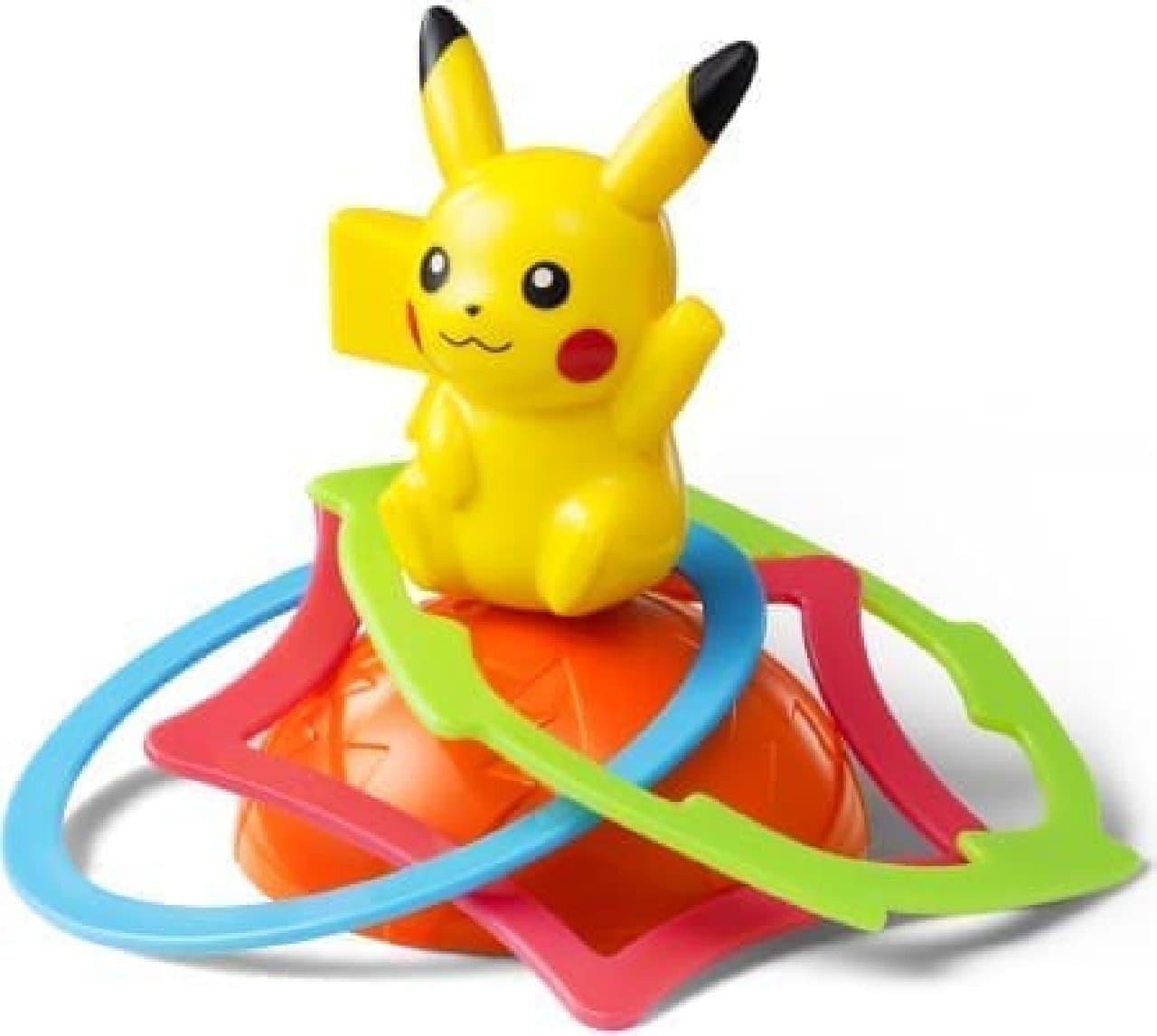 夏休みに家族や友達と一緒に遊べるおもちゃが勢ぞろい!  (写真はピカチュウ くるくるわなげ)  (c)Nintendo・Creatures・GAME FREAK・TV Tokyo・ShoPro・JR Kikaku   (c)Pokemon   (c)2015 ピカチュウプロジェクト