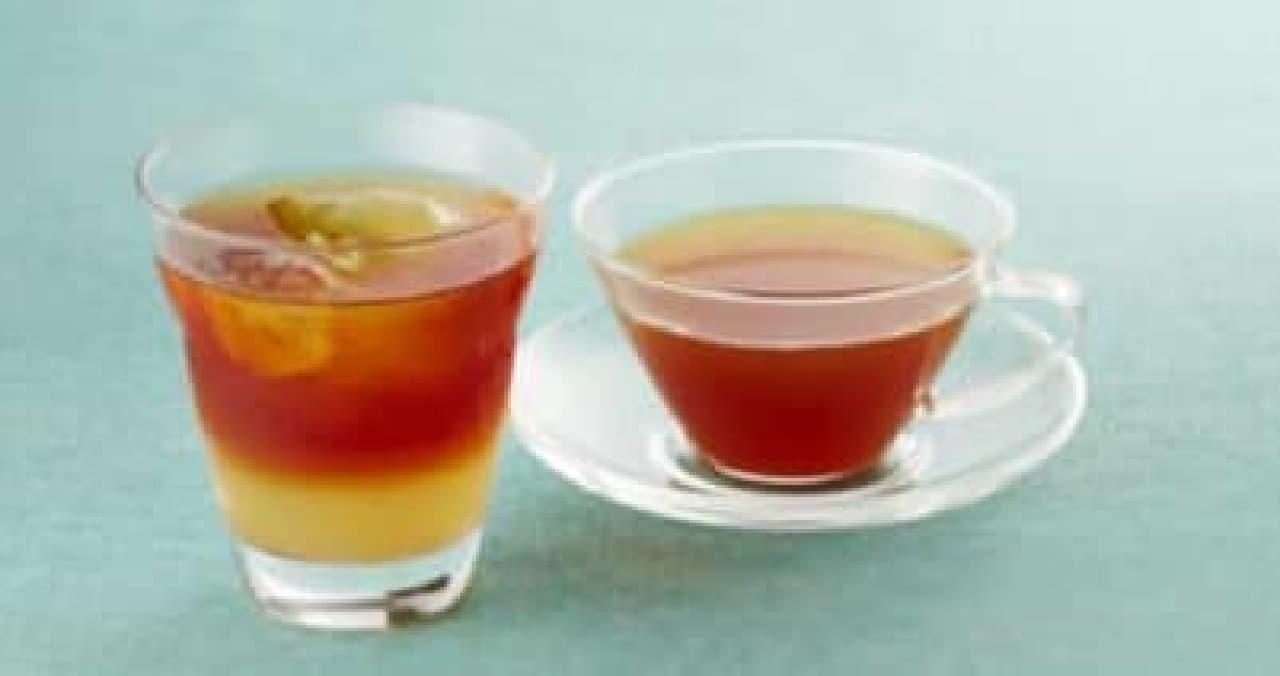 山形県産ラ・フランス果汁入りのフルーツティーも