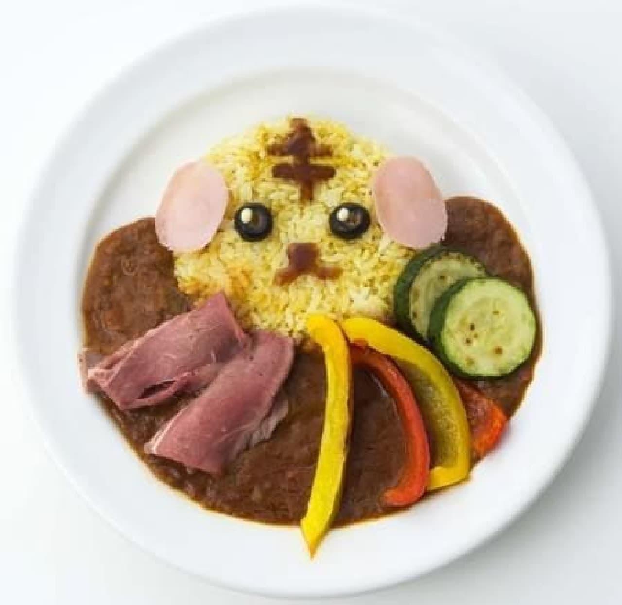 ここでしか食べられないコラボメニュー!  写真は「虎豆しばの夏野菜ローストビーフ豆カレー」  (C)DENTSU INC.