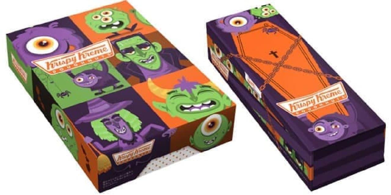 箱のデザインもハロウィン仕様