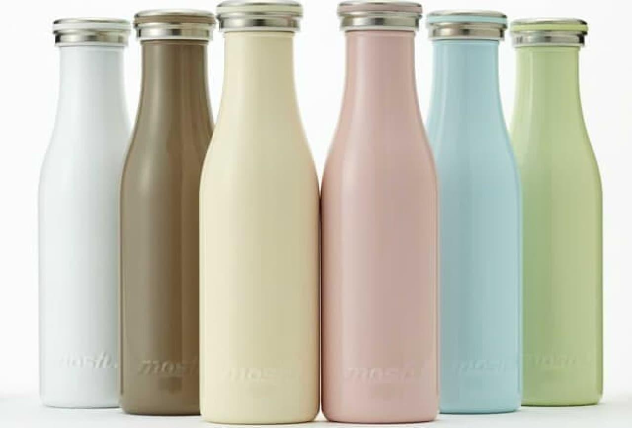 500ml容量のものは、一般的な500mlペットボトルと同サイズ