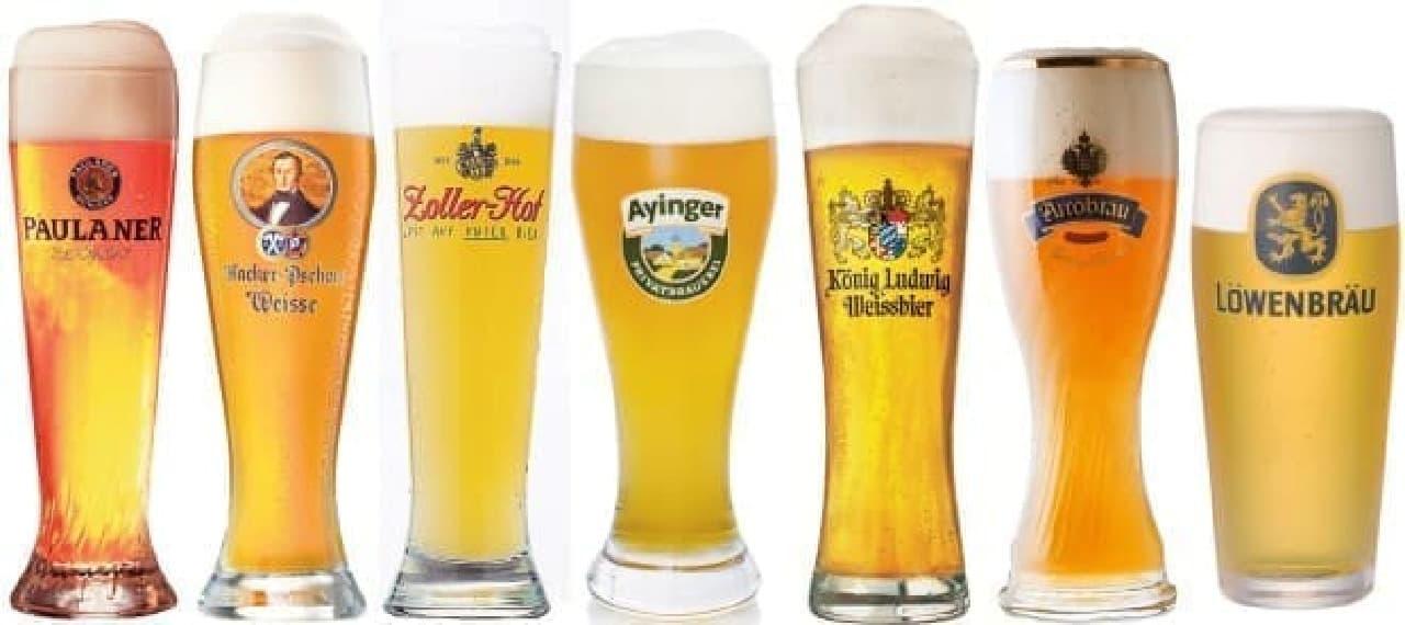 ドイツビールを楽しんで