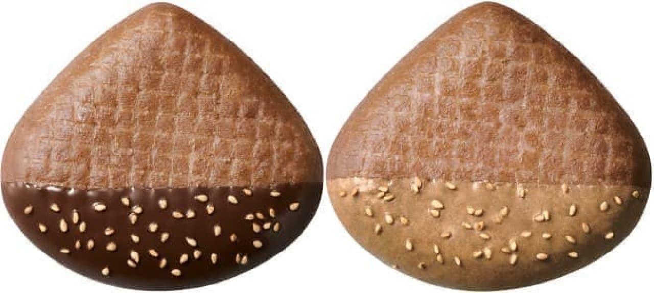 焼き栗ドーナツ チョコ(左)、同マロンチョコ