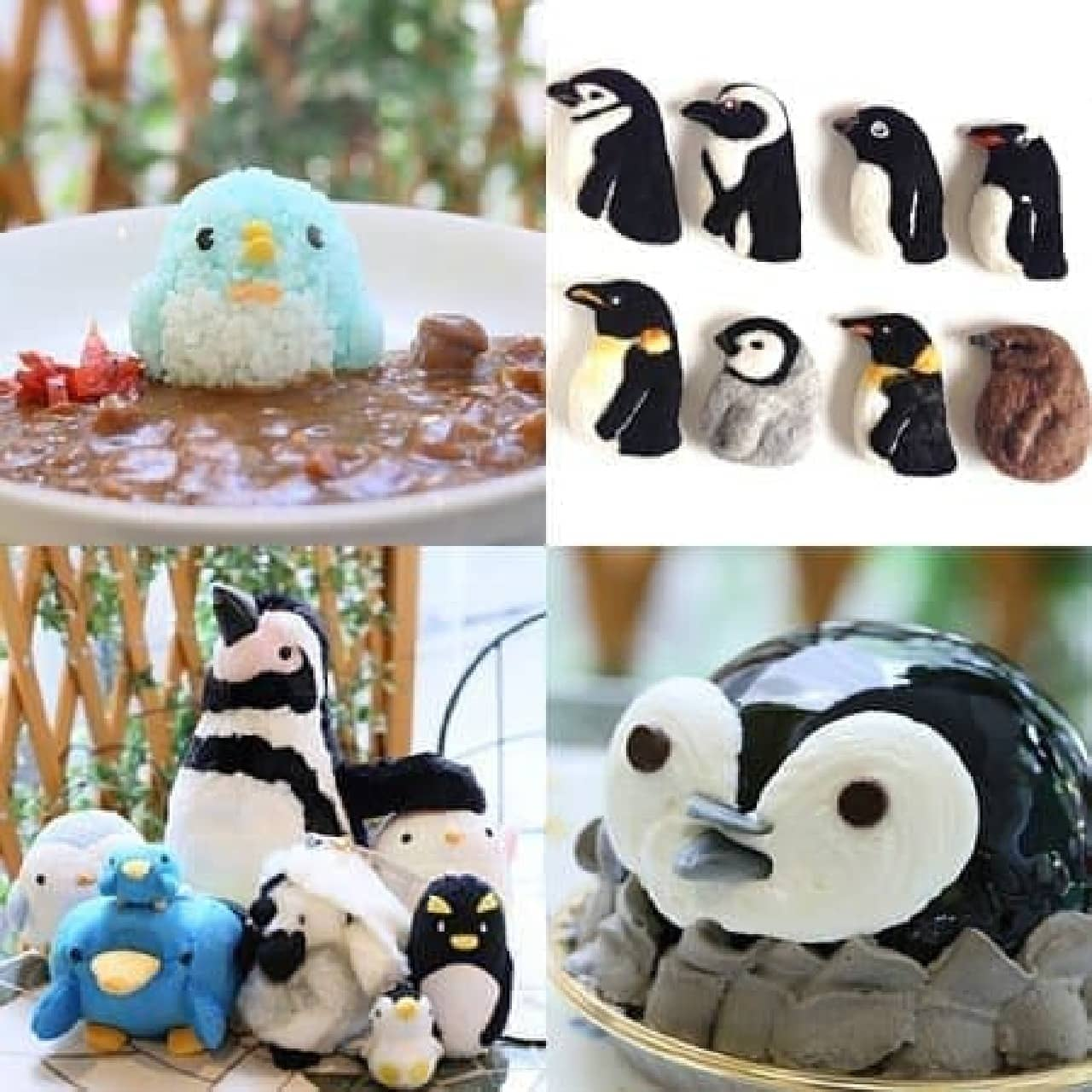ペンギンケーキに、ペンギンカレーも