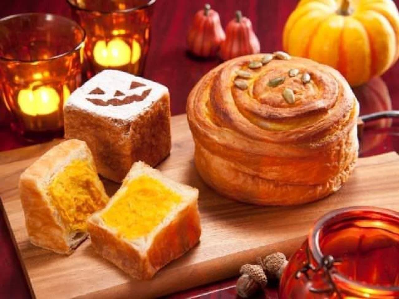 ハロウィンにはかぼちゃのパンを!