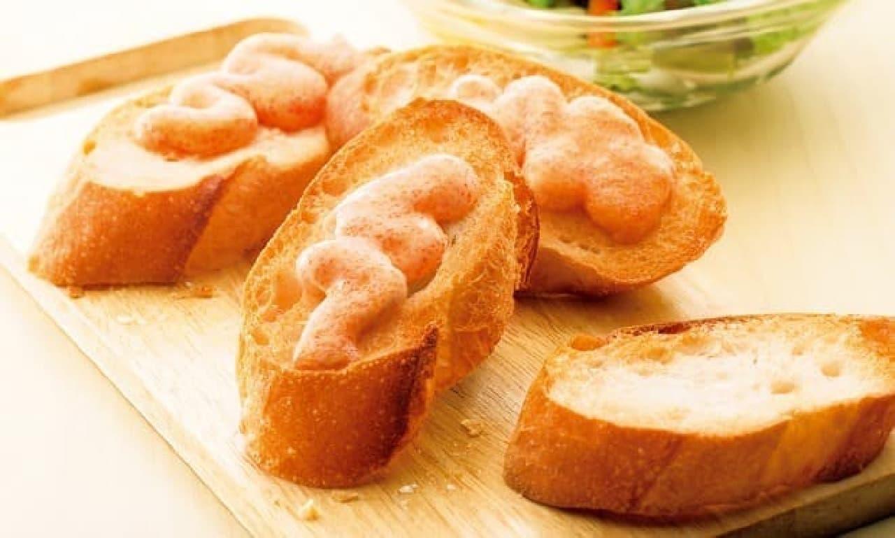 """手軽に""""明太子バタートースト""""が作れる!"""