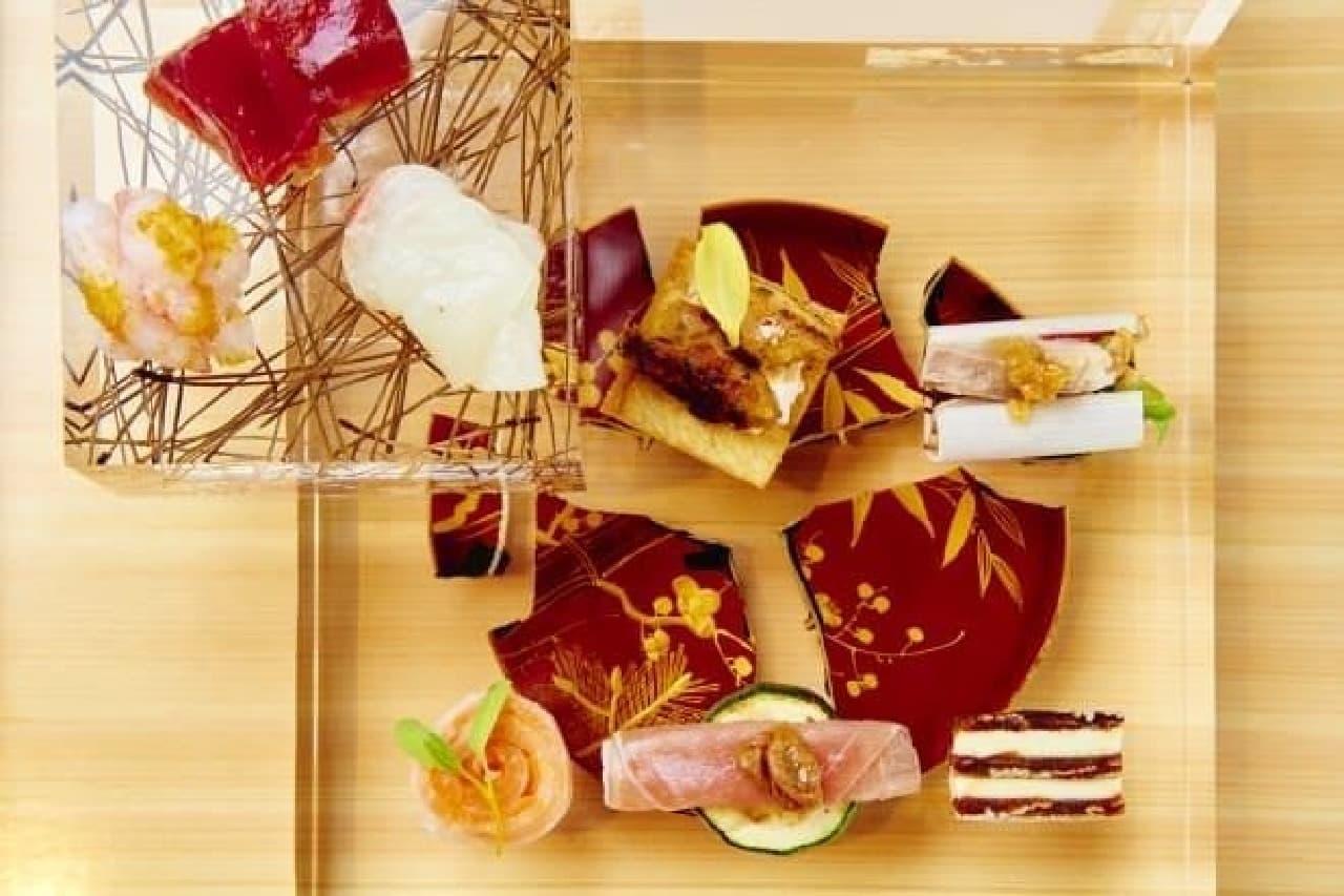色とりどりの器で楽しむ前菜メニュー