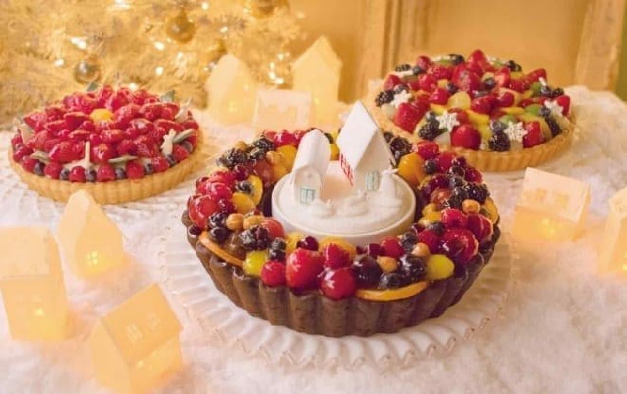 今年のクリスマスケーキは3種!