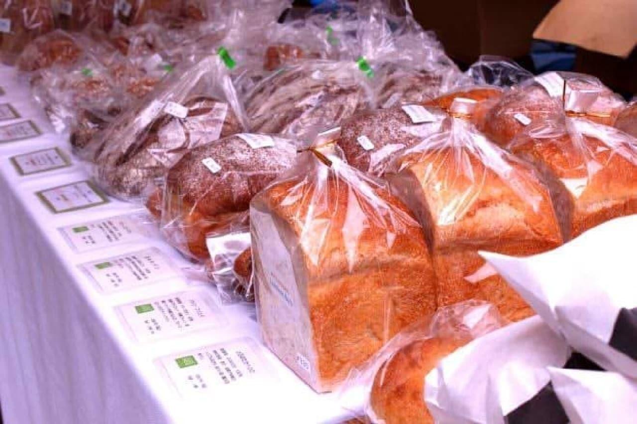 """全国から集まった""""新麦""""のパン"""