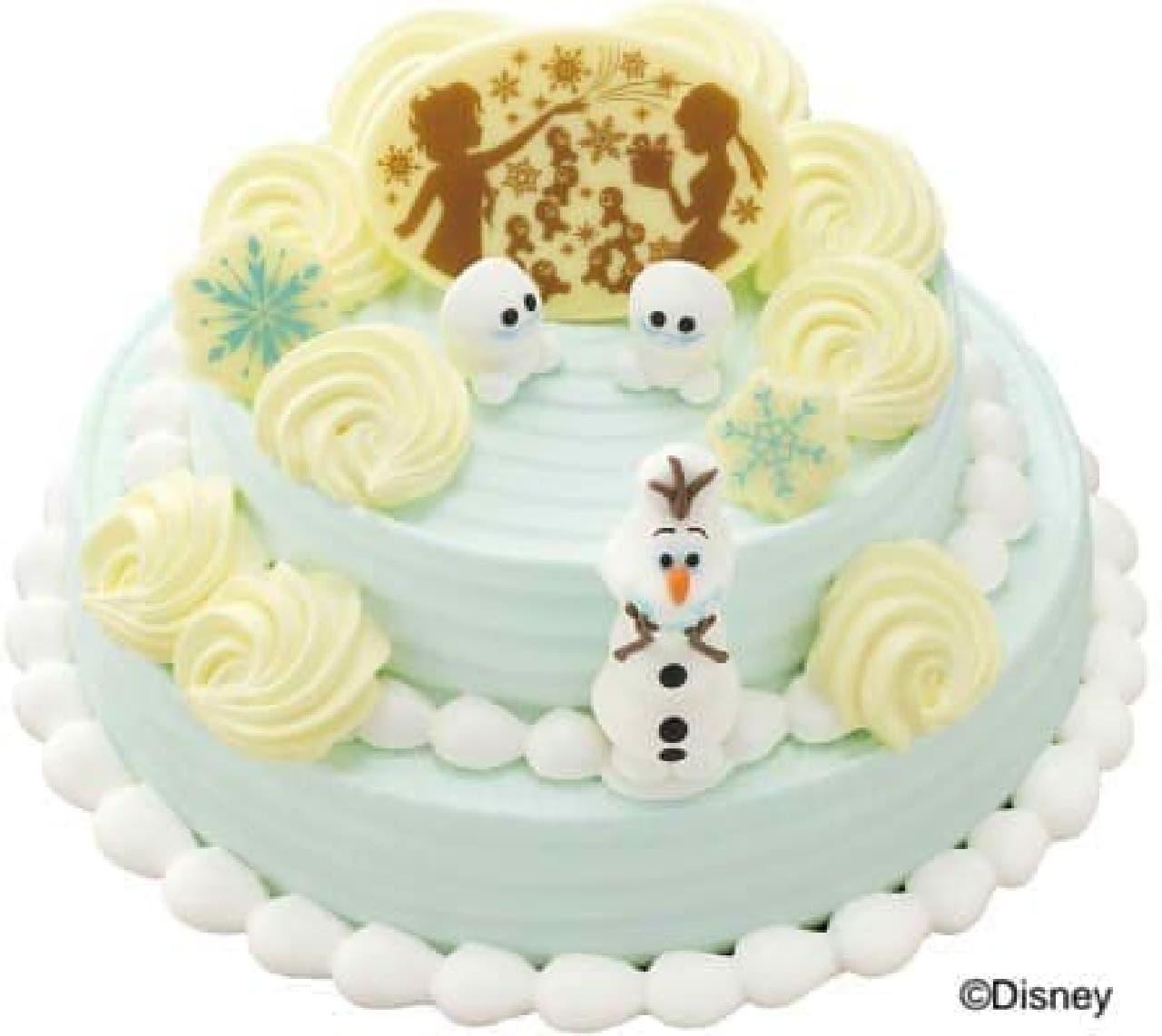 「アナと雪の女王 サプライズクリスマスケーキ」
