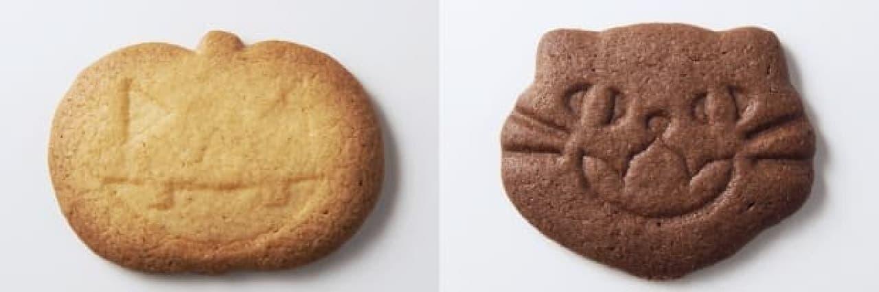 かぼちゃ(左)と黒ねこ(右)のサブレ
