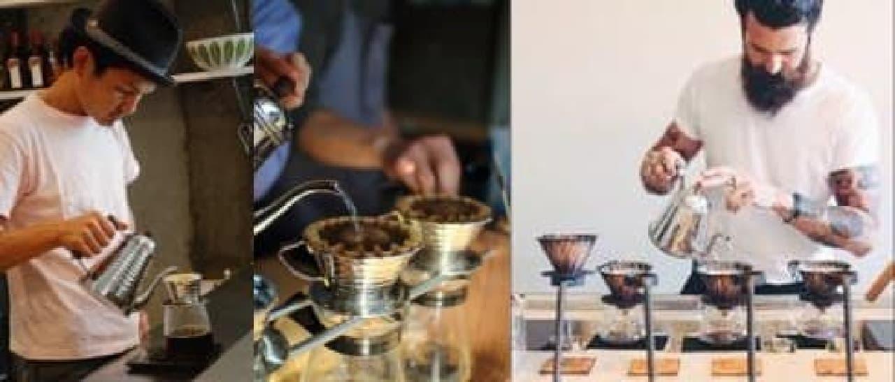 実力派ロースターカフェのコーヒーを飲み比べ
