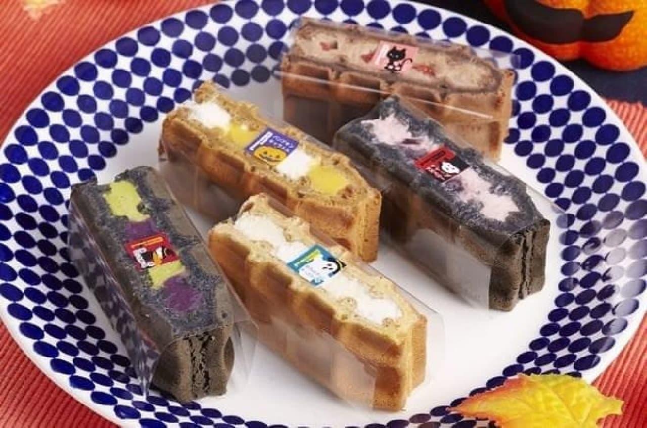 魔女やドラキュラがモチーフのワッフルケーキ