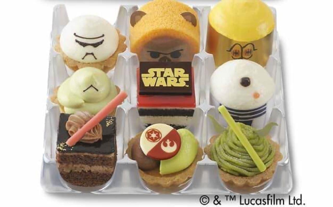 ケーキで楽しむ「スター・ウォーズ」!  (画像は「プチガトー スター・ウォーズコレクション」)