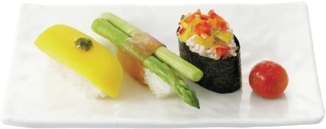 野菜寿司3貫盛