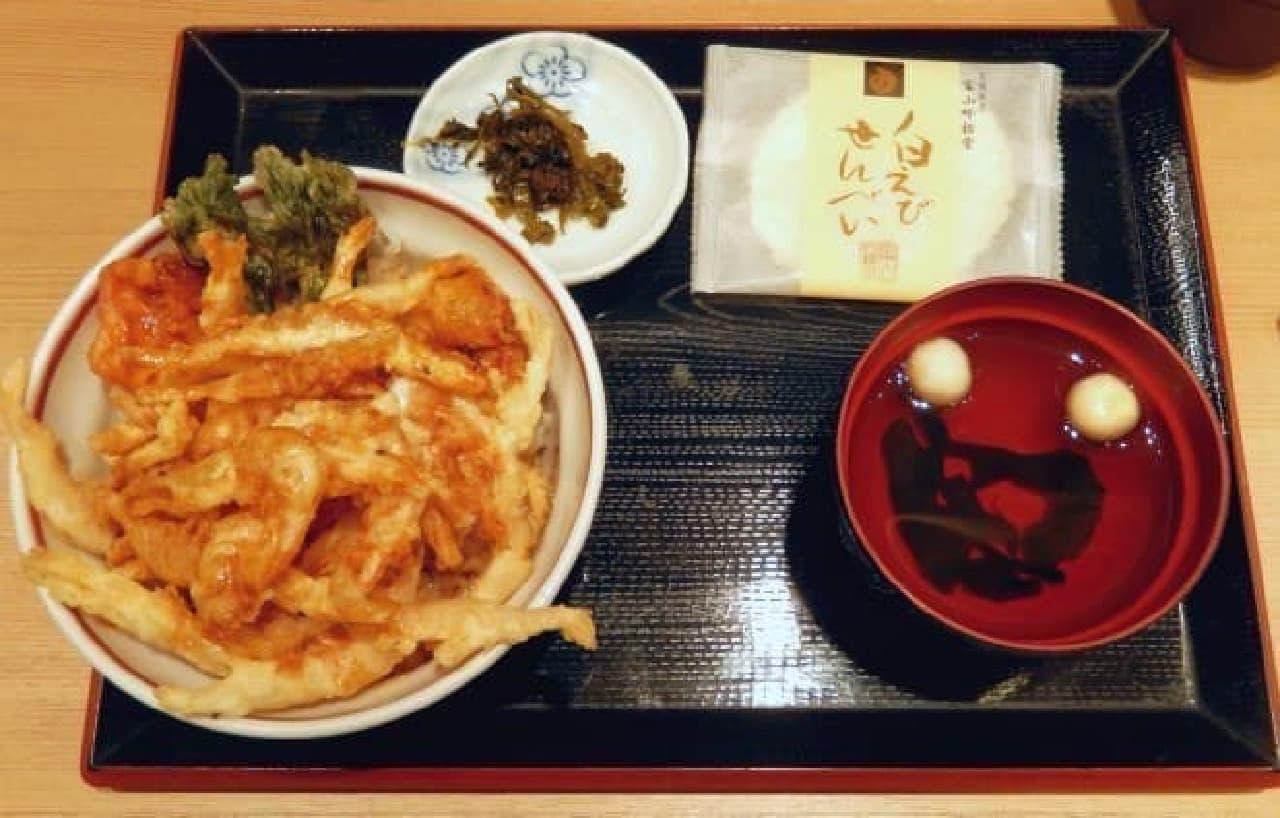 白えび天丼定食!