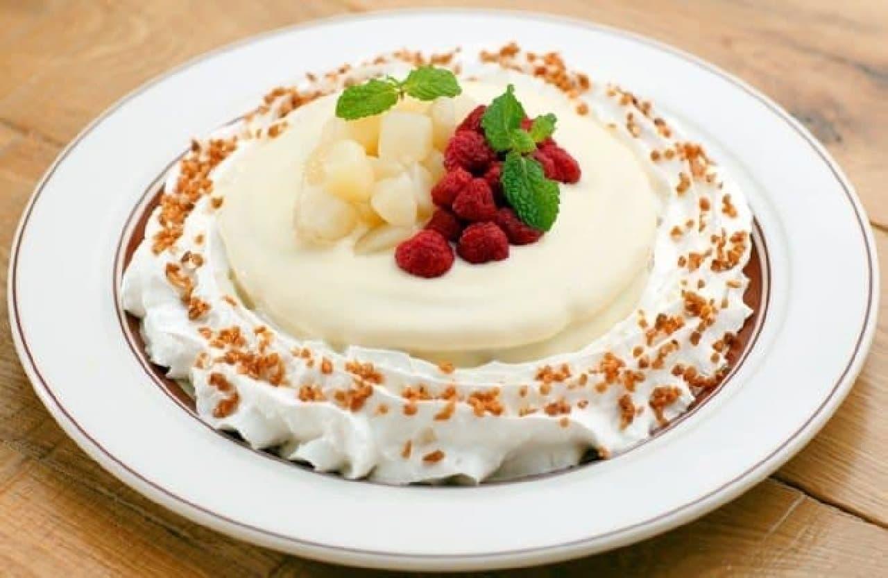 ららぽーとTOKYO-BAY店限定「洋梨とラズベリーのパンケーキ」
