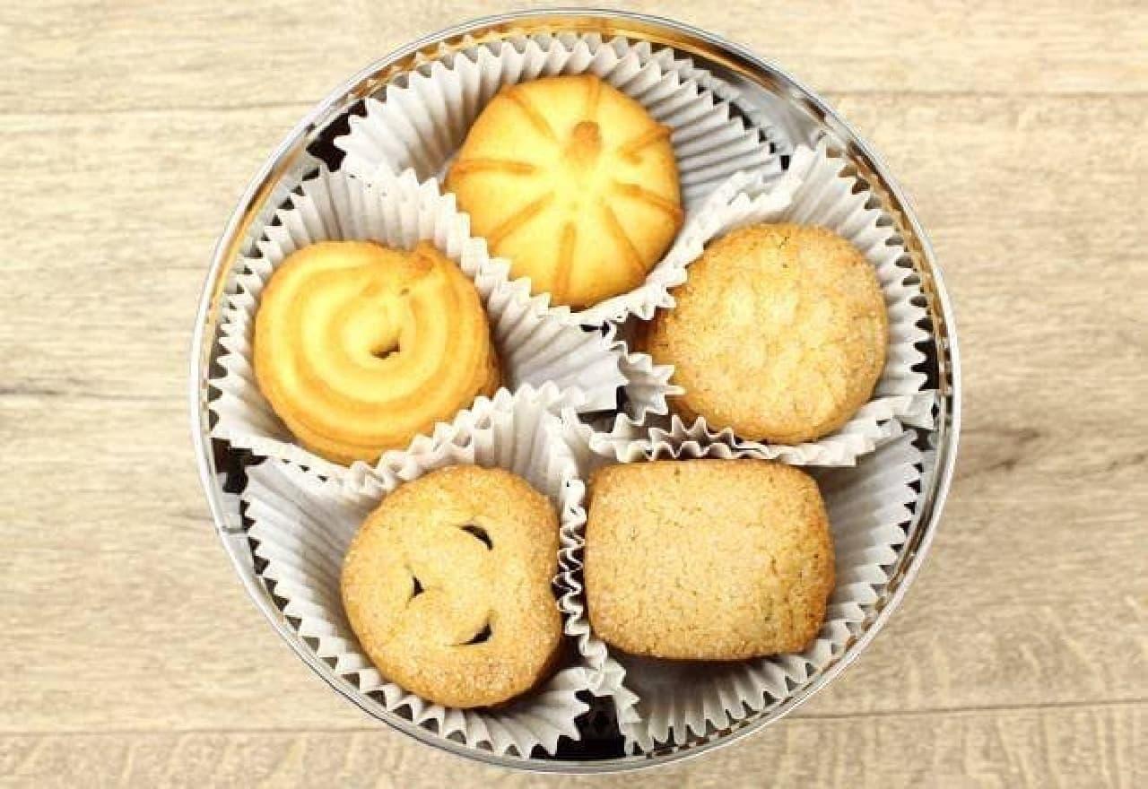 5種類×4枚×3カップ=計60枚のクッキー入り