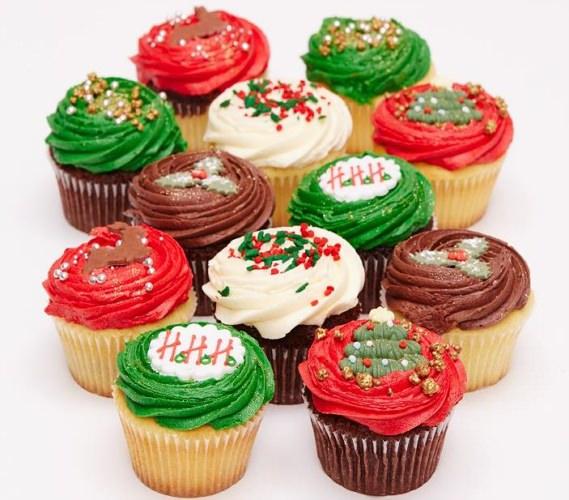 キュートなクリスマスカップケーキたち