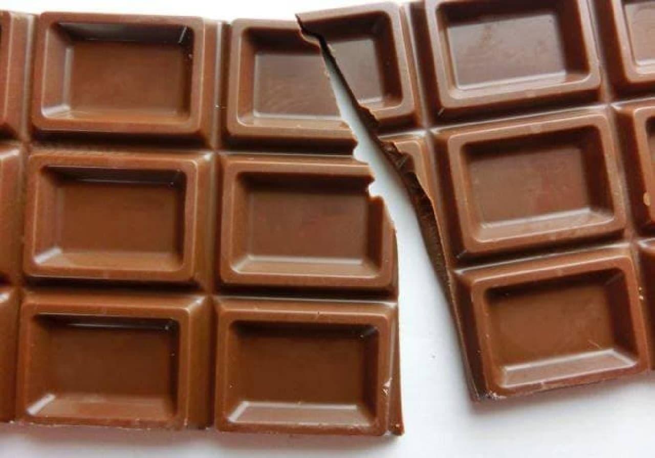 板チョコ、大好き!(写真はイメージです)