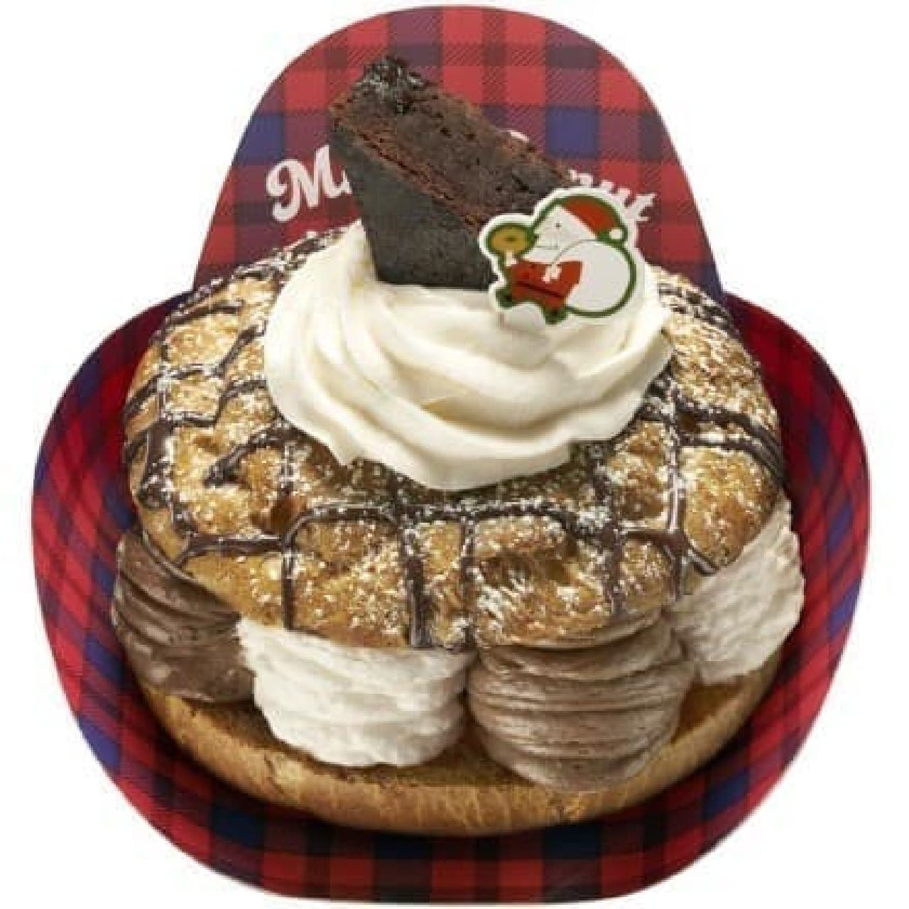 ミスドのクリスマスは、「パリブレスト」とともに