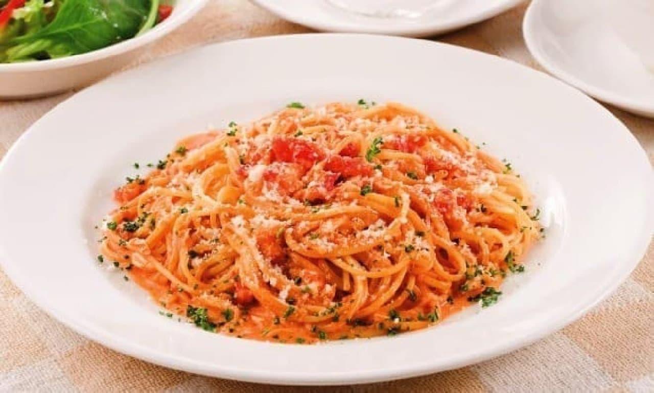 贅沢なたらば蟹のスパゲティ