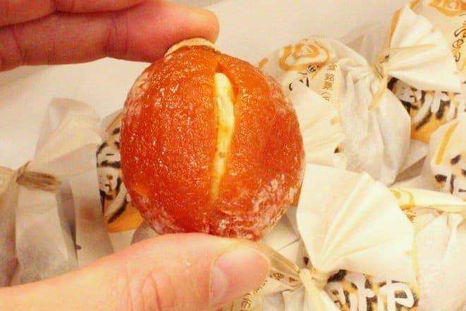 栗きんとんの恵那栗工房 良平堂の「栗福柿」  手作りのやさしい甘さにほっこり