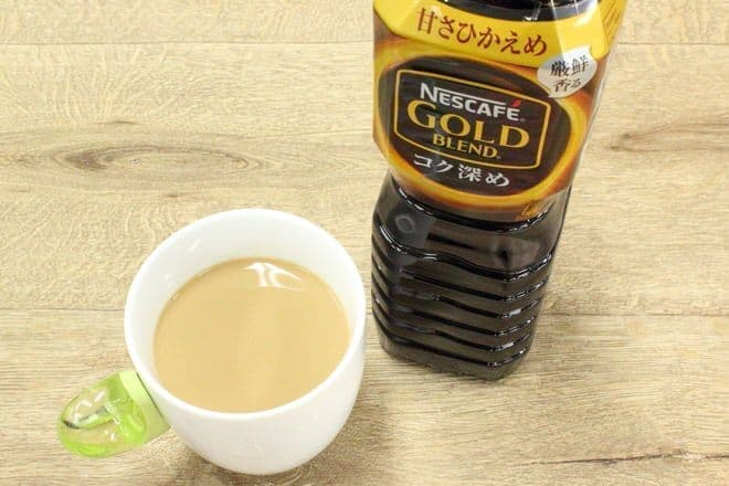ボトルコーヒーでつくれば、ホットラテも簡単!