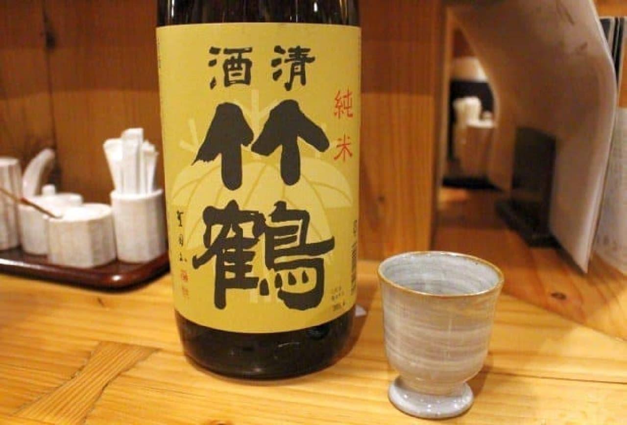 広島・竹鶴 純米  ウイスキーでおなじみの竹鶴だけど、日本酒もおいしい