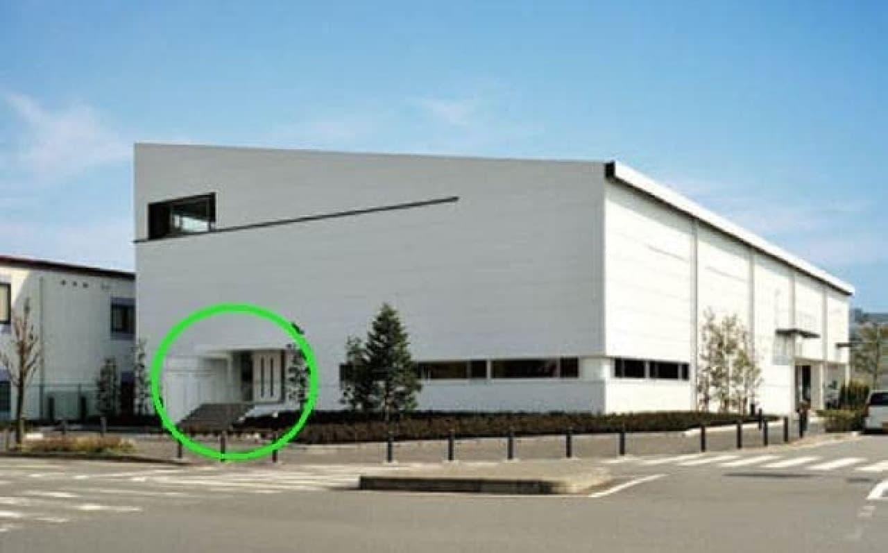 横浜の工場。入口はここ(緑のマルのところ)だよー!