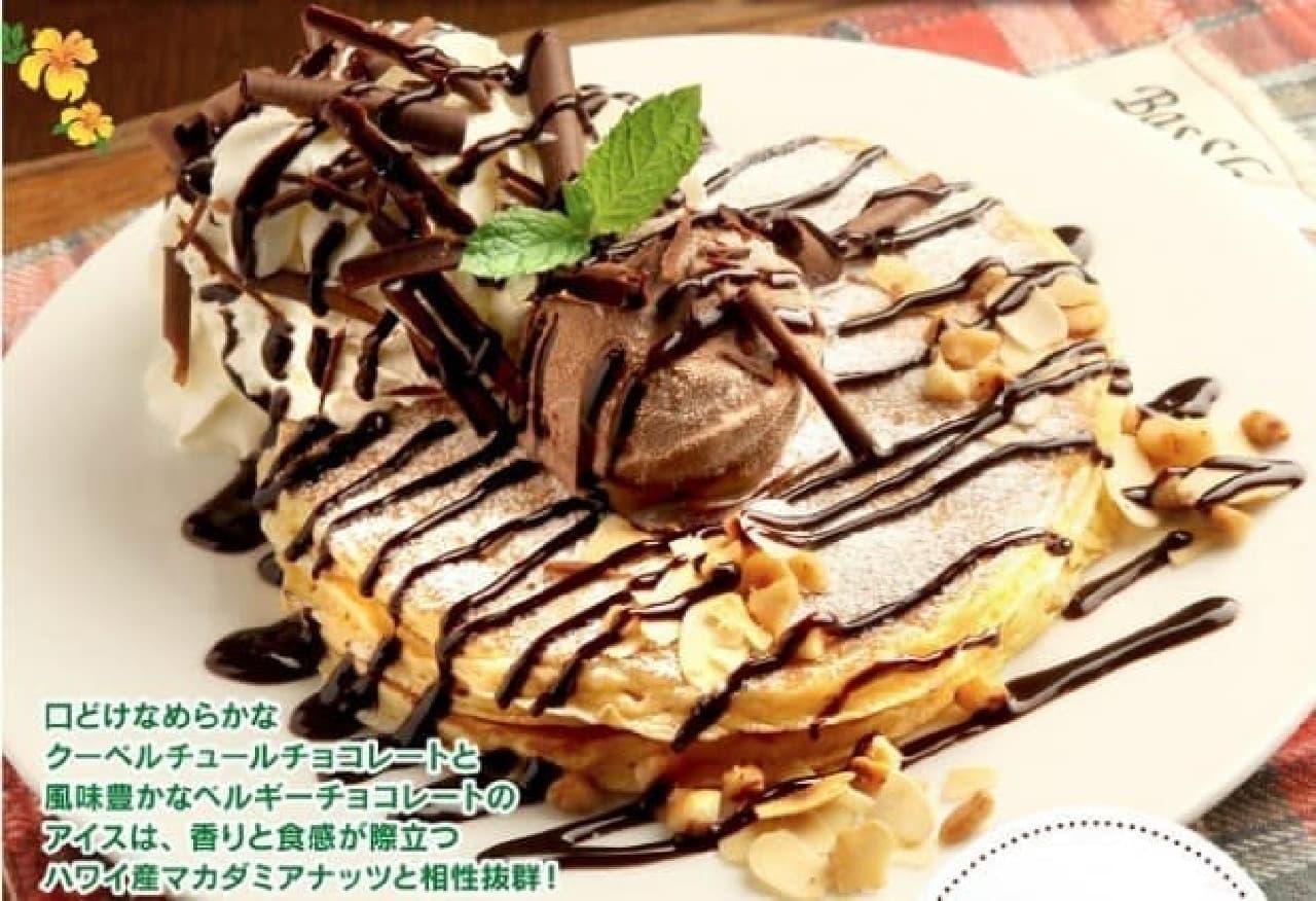 「チョコレート&マカダミアナッツパンケーキ」  (出典:クアアイナ公式サイト)