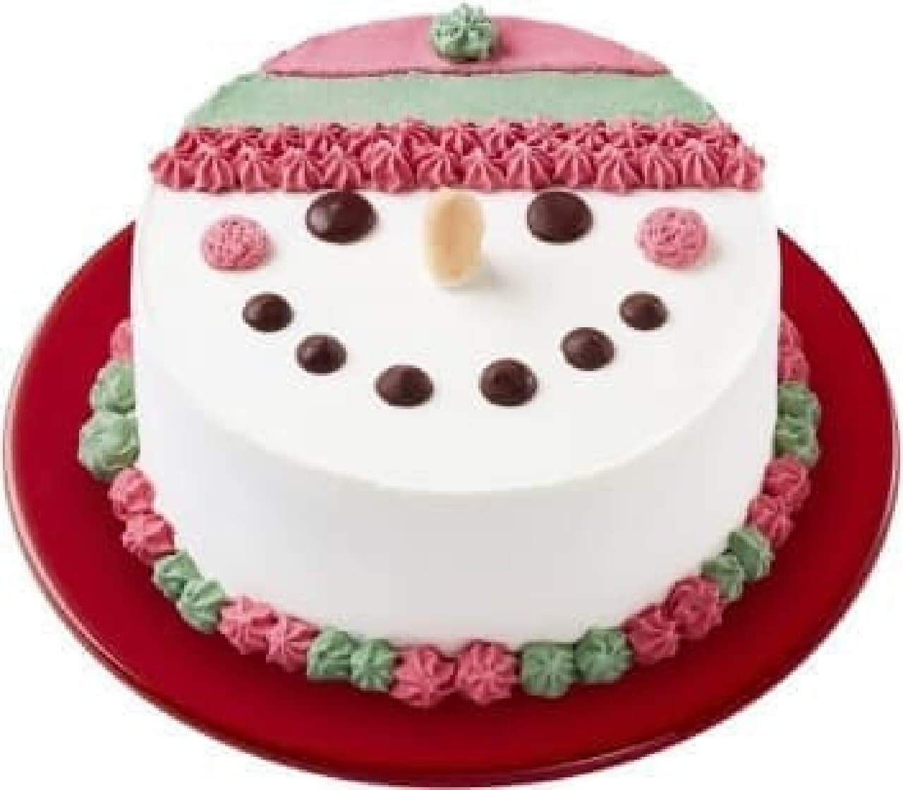 スノーマンがキュートなアイスケーキ!