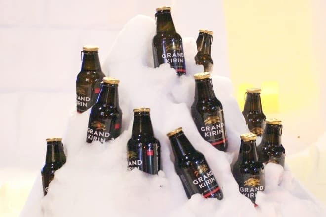 ビールは冬もおいしいのです   (冬の屋外では凍結にご注意ください)