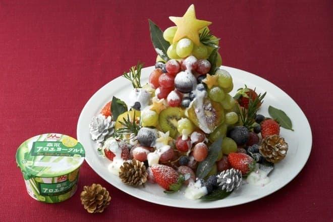 アロエヨーグルトのクリスマスツリー!?
