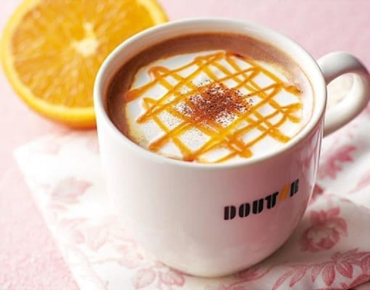 すっきりとした味わいの「カフェ・ショコラ オランジェ」