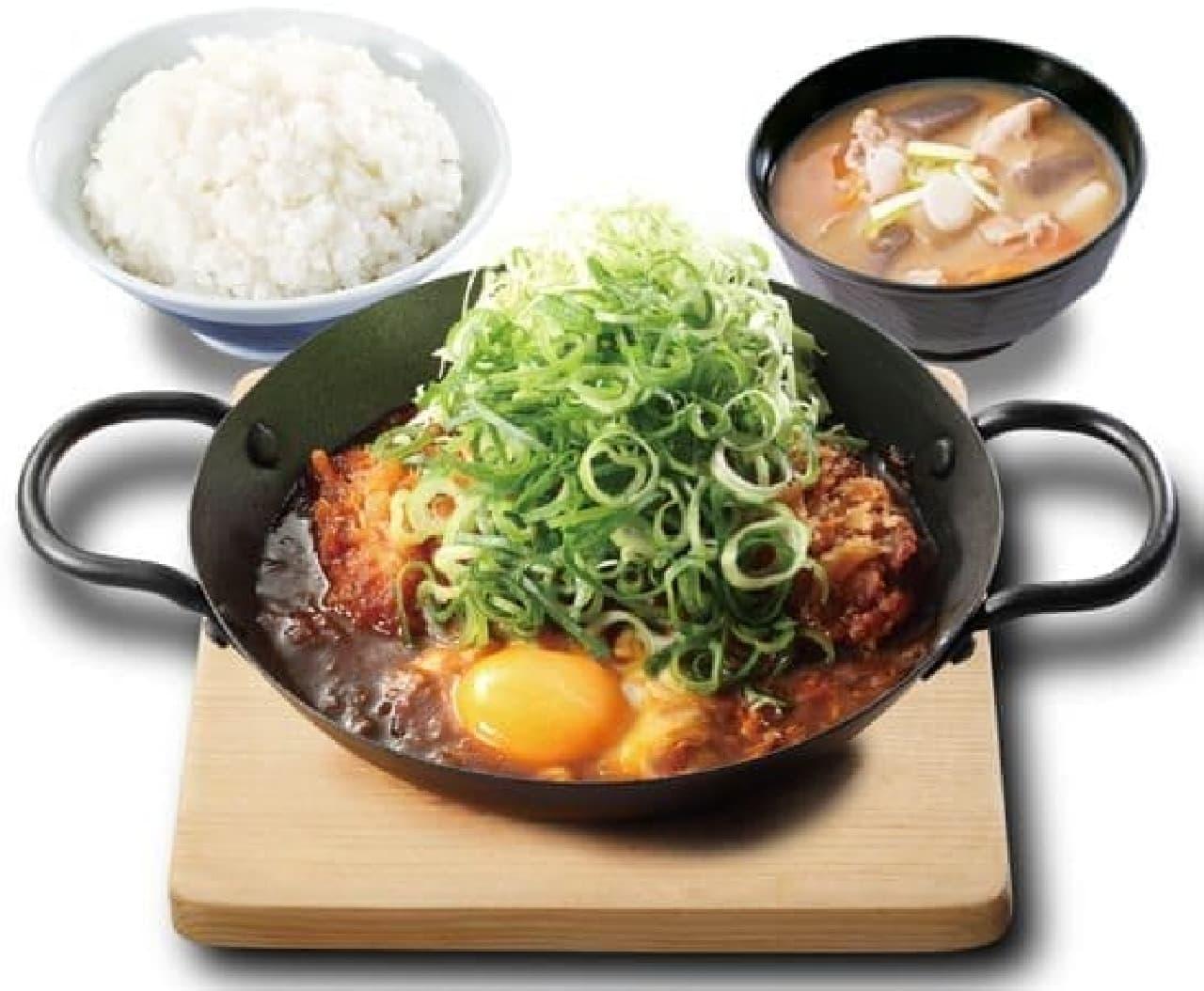 「ねぎ味噌カツ定食」