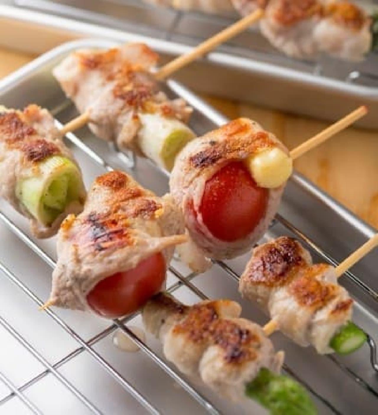 野菜豚焼き串(写真はイメージ)