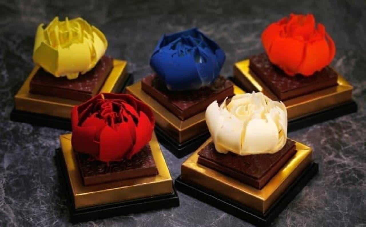"""""""バラの花""""のチョコレートLOIS DU BONHEAR"""