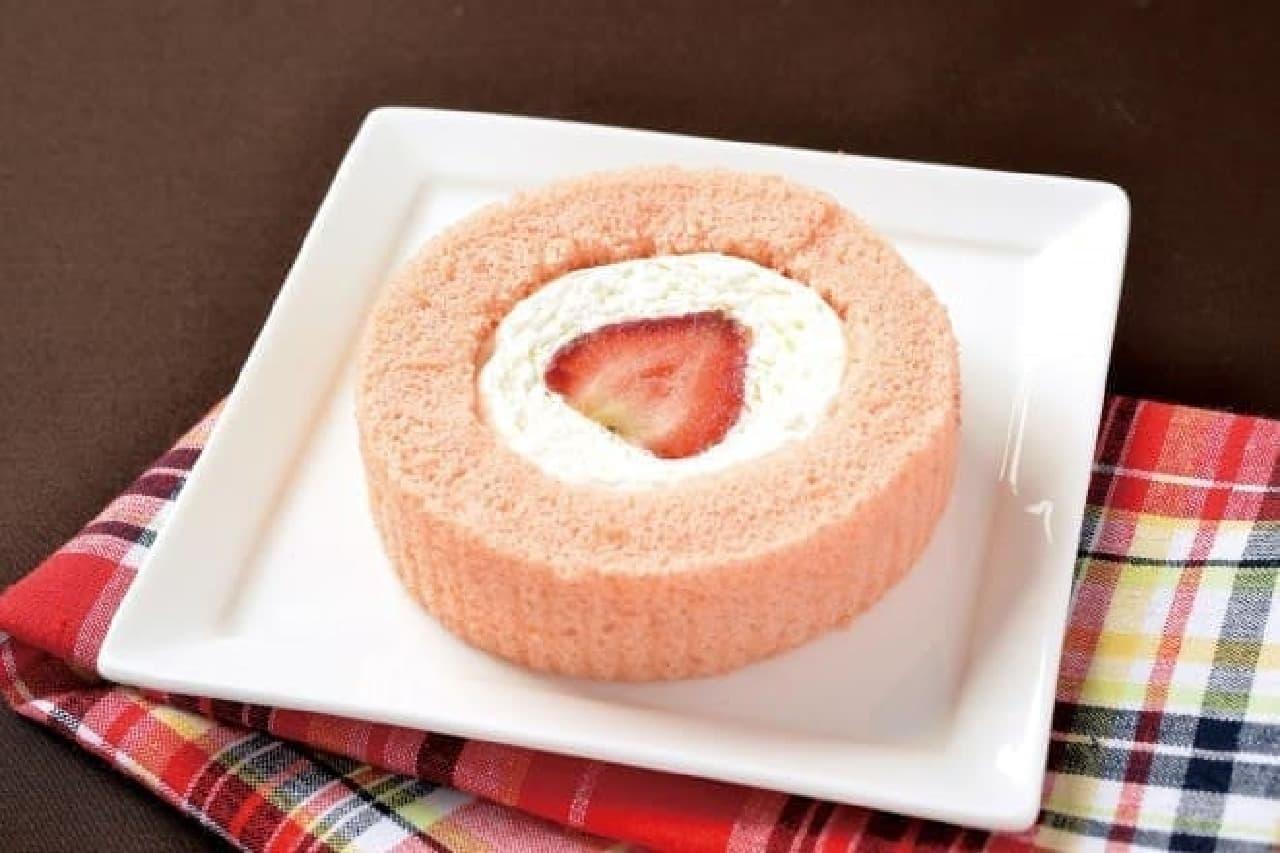 「プレミアムあまおう苺のロールケーキ」