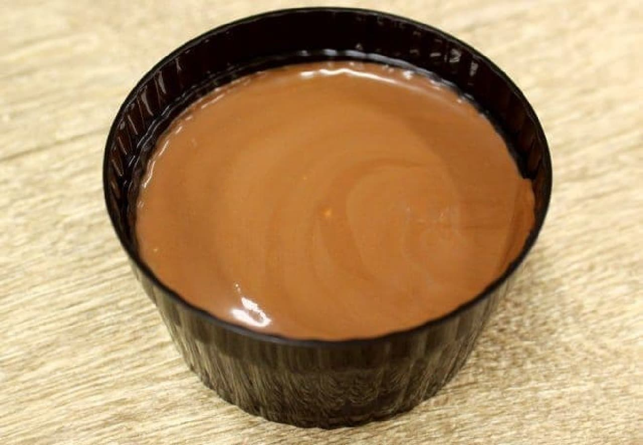 チョコクリームをそのまま器に流し込んだみたい