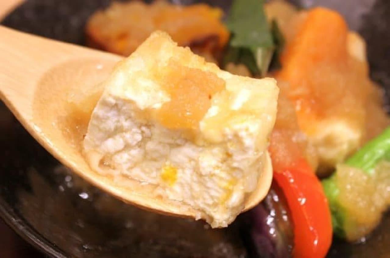 今回の個人的ヒットはカラダも喜ぶ揚げ豆腐